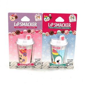 Lip Smacker Lip Balm Holiday Cup 2 Pack NEW